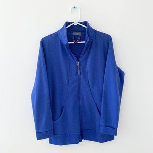 2/$30 Blue Purple Zip Up Sweater Jacket Long Top